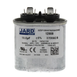 10 MFD Oval Run Capacitor (370V) Product Image