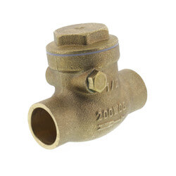 """1/2"""" Solder Ends Swing Check Valve, Lead Free Product Image"""