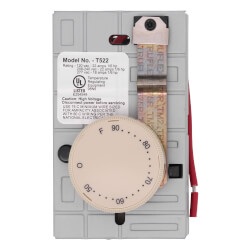 Double-Pole Wall-Mount Mechanical Non-programmable Thermostat, 22 A, 120/240v (Almond) Product Image