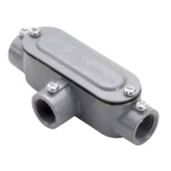 """1-1/2"""" T Combination Conduit Body with Cover and Gasket Product Image"""
