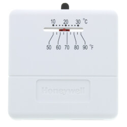 T812, Heat Only<br>Square Thermostat Product Image