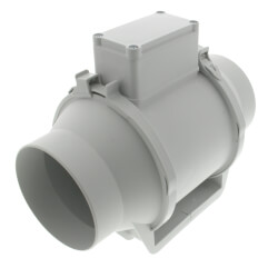 """TD-MIXVENT 4"""" Mixed Flow Duct Fan (120V, 2516 RPM, 26W) Product Image"""