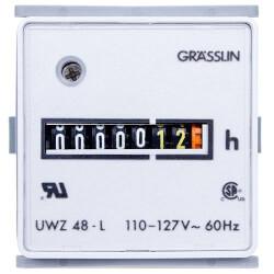 60Hz Flush Mount AC Hour Meter, Quick Connect Combination (24V) Product Image