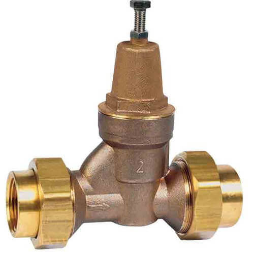 """LFN55BDU-S - 1-1/2"""" Sweat Double Union Water Pressure Reducing Valve (Lead Free) Product Image"""