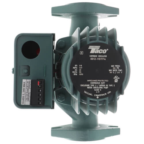 """0012 Variable Speed Delta-T Cast Iron Circulator Pump, 1/8 HP (2"""" Flange) Product Image"""