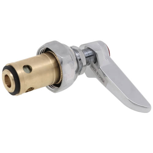 Eterna RTC Spindle Assembly w/ Spring Check, Red Lever Handle & Screw (18.77 GPM) Product Image