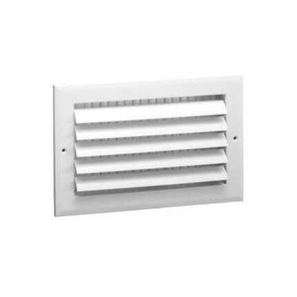 """10"""" x 8"""" (Wall Opening Size) White Sidewall/Ceiling Register (A611MS Series) Product Image"""