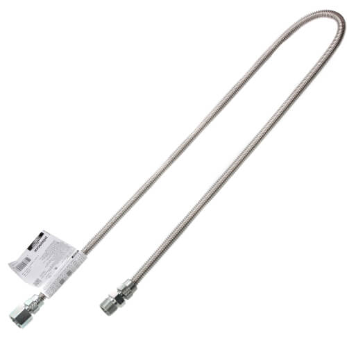 """Model 10-3132-48 1/4"""" ID (3/8"""" OD) Stainless Steel Gas Connector 1/2"""" MIP x 1/2"""" FIP (48"""" Length) Product Image"""