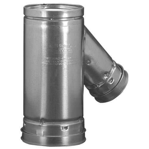 "4"" x 4"" x 3"" B Wye Gas Vent (4RYF43) Product Image"