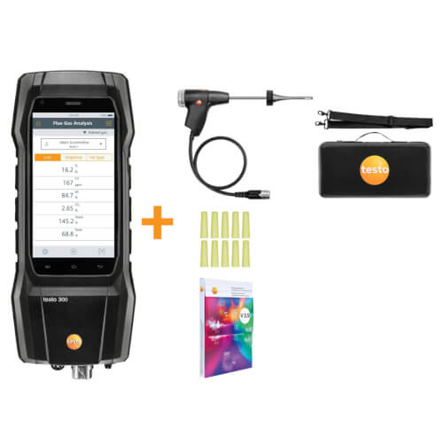 Testo 300 Residential / Commercial Analyzer Kit- Smoke Edition (O2 & CO installed)  Product Image