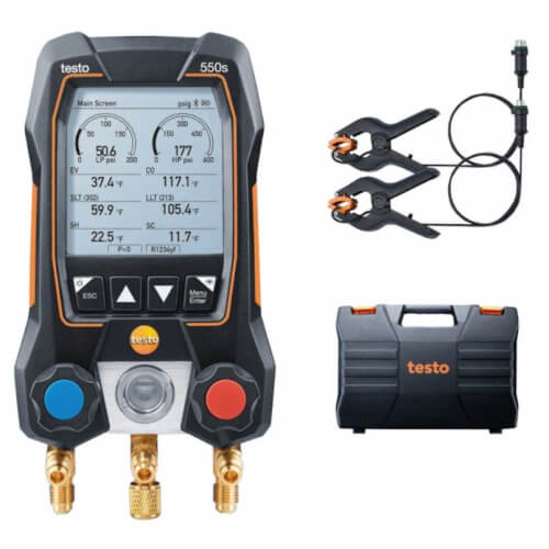 550S Kit, 2-Valve Smart Digital Manifold w/ 2 Wired Pipe Temp. Probes Product Image