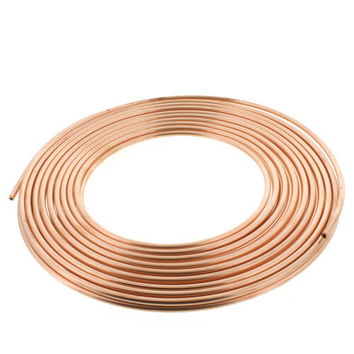 """1/4"""" OD x 50' Copper Refrigeration Tubing Coil Product Image"""