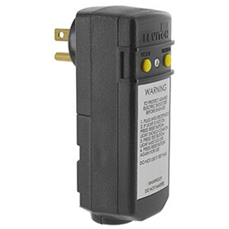 Automatic Right-Angle GFCI Plug, 5-15P, Grounded, 15A, 120V Product Image