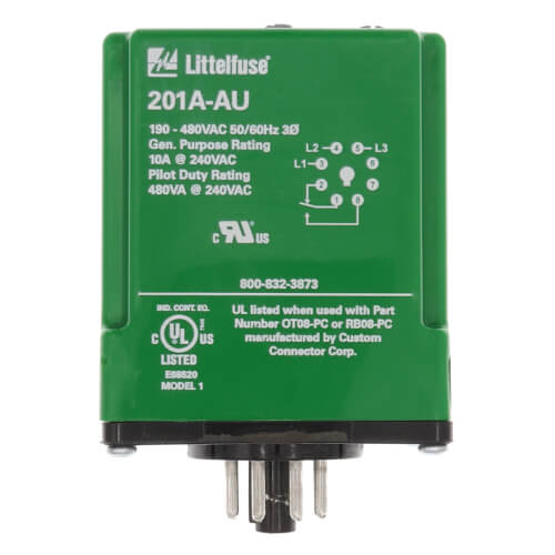 3 Phase Form C Dual Range Plug-In Line Voltage Monitor (190-480V) Product Image