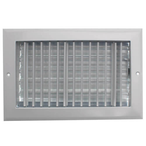 """10"""" x 6"""" (Wall Opening Size) White Sidewall/Ceiling Register (A618MS Series) Product Image"""