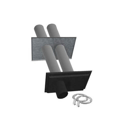 """2"""" Twin Pipe Zincalume with Black Nozzle Termination Kit w/ LB2 Product Image"""