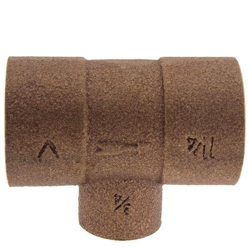 """1-1/4"""" x 3/4"""" Bronze Monoflo Tee Product Image"""