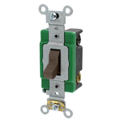 Double-Pole, Specification Grade Toggle Switch, 30A - Brown (120/277V) Product Image