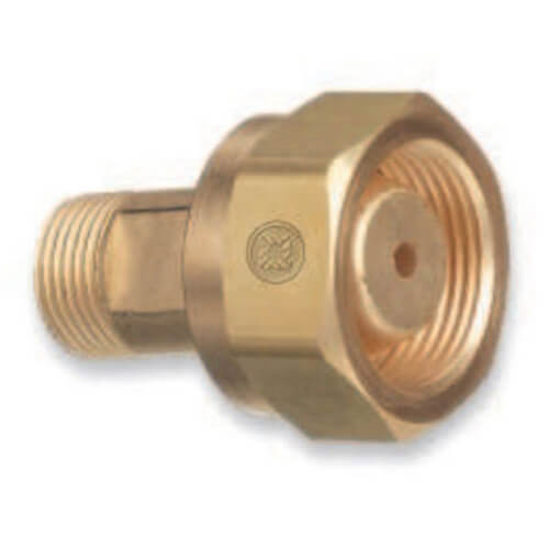 Brass Cylinder Adapters, CGA-520 B Tank Acetylene To CGA-200 Commercial Acetylene Product Image
