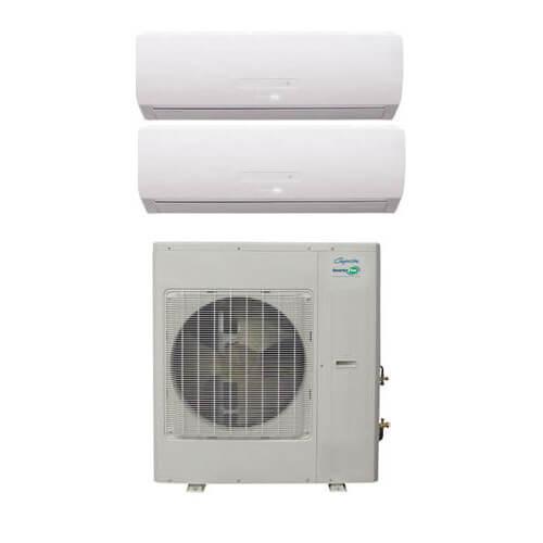 29,000 BTU InverterFlex Dual Zone Heat Pump Package (12+18) Product Image