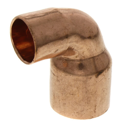"""3/4"""" x 1/2"""" Copper 90° Elbow Product Image"""