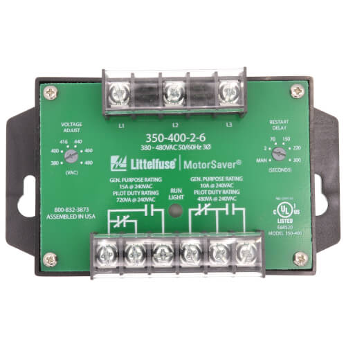 3 Phase DPDT Fixed Trip & Variable Restart Delay Line Voltage Monitor (380-480V) Product Image
