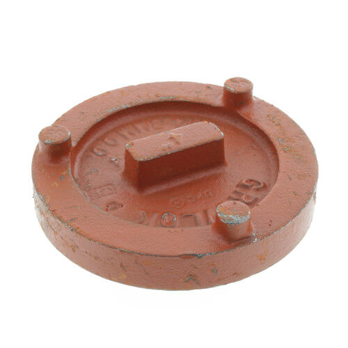 """4"""" 7074 Grooved Cap Product Image"""