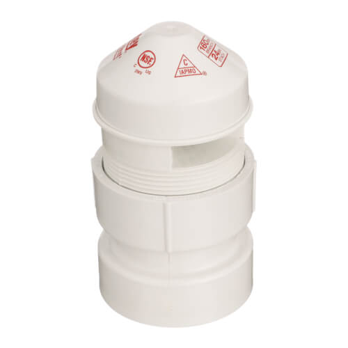 """20 DFU Sure-Vent Air Admittance Valve w/ 1-1/2"""" x 2"""" PVC Adapter Product Image"""