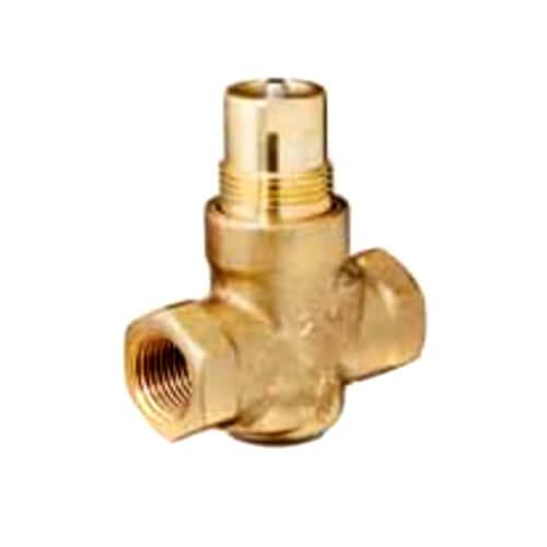 "1/2"" 2-Way N/C Brass Globe Valve Body, Female x Female (1 Cv) Product Image"