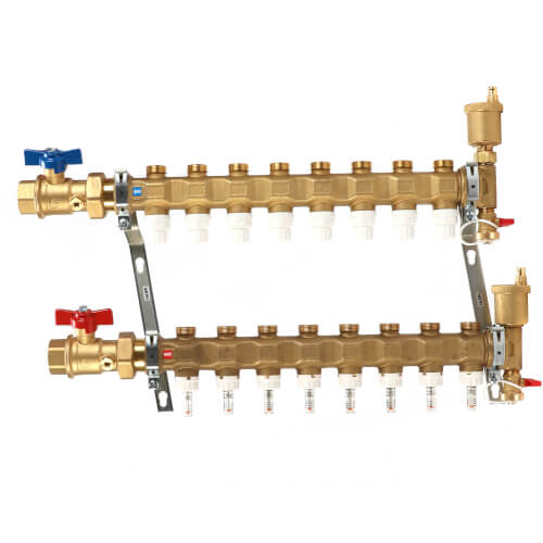 """1"""" TwistFlow Inverted Manifold w/ Temp Gauge (8 Outlets) Product Image"""