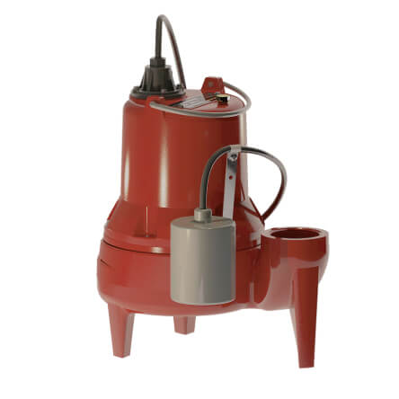 """1/2 HP 700 Series Simplex Sewage System - 115v - 2"""" Discharge w/ Alarm Product Image"""