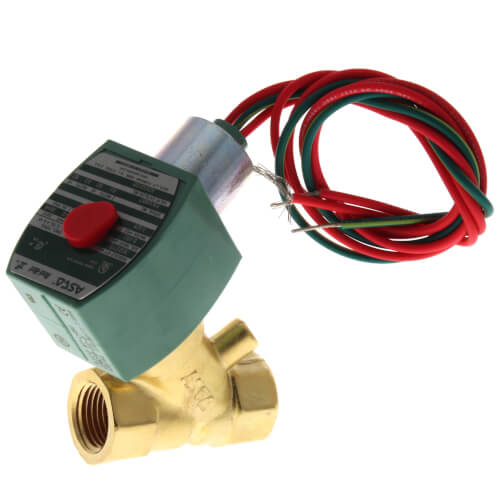 """1/2"""" Normally Closed, 2-Way Brass Solenoid Valve (120/60 AC) Product Image"""