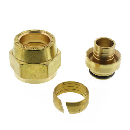 """5/8"""" QS-style Fitting Assembly, R20 thread Product Image"""
