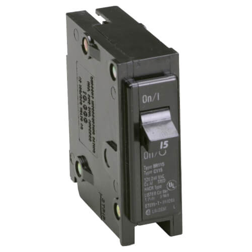 Single-Pole BR Thermal Magnetic Circuit Breaker (15A, 120/240V) Product Image