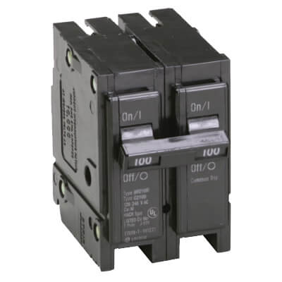 2-Pole BR Thermal Magnetic Circuit Breaker (100A, 120/240v) Product Image