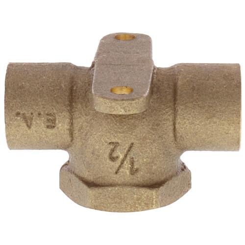 "1/2"" C x C x F Cast Brass Drop Ear Tee (Lead Free) Product Image"