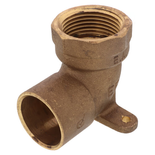 "1"" CxF Cast Brass 90° Drop Ear Elbow (Lead Free) Product Image"