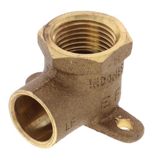 "1/2"" CxF Cast Brass 90° Drop Ear Elbow (Lead Free) Product Image"