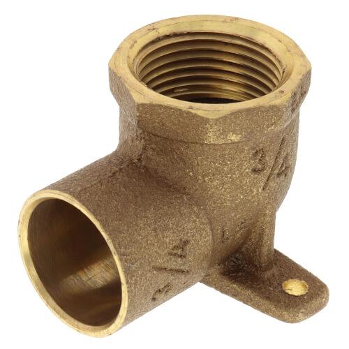 "3/4"" CxF Cast Brass 90° Drop Ear Elbow (Lead Free) Product Image"