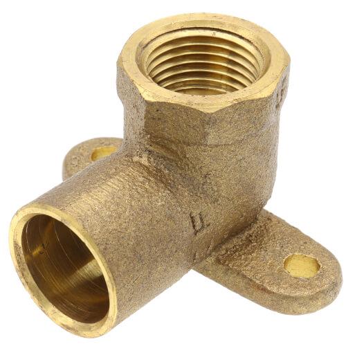 "1/2"" X 3/8"" CxF Cast Brass 90° Drop Ear Elbow (Lead Free) Product Image"