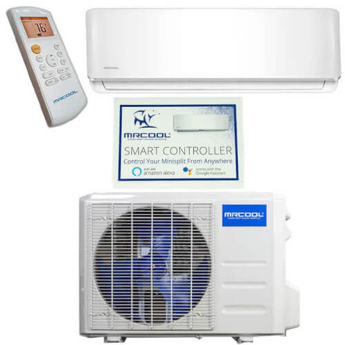 DIY 3rd Gen 12,000 BTU 22 SEER Energy Star Ductless Mini-Split AC and Heat Pump w/ 25ft Install Kit, Package (115V) Product Image
