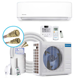DIY 3rd Gen 23,000 BTU 20 SEER Energy Star Ductless Mini-Split AC and Heat Pump w/ 25ft Install Kit, Package (230V) Product Image