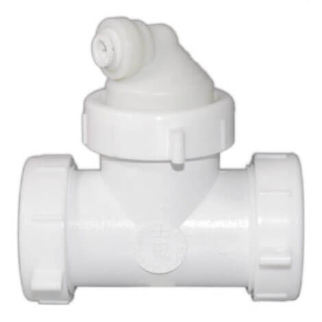 """Quick Connect Reverse Osmosis Drain Line Adapter w/ 1/4"""" Push-In Inlet (Commercial) Product Image"""