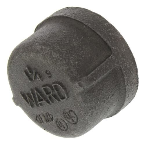 """1-1/4"""" Black Cap Product Image"""