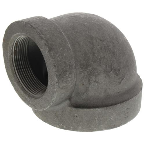 "3"" x 2"" Black Cast Iron Steam 90° Elbow Product Image"