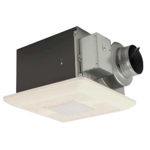 WhisperCeiling DC 50/80/110 CFM Ceiling Ventilation Fan w/ LED Light Product Image