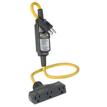 Automatic Reset GFCI Device w/ Molded-On NEMA Plug & Triple-Tap Connector, 3' Cord 15A, 120V Product Image