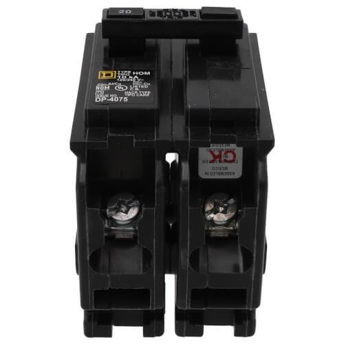 Homeline 2 Pole Miniature Circuit Breaker (120/240V, 20A) Product Image