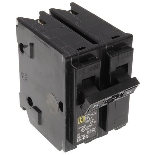 Homeline 2 Pole Miniature Circuit Breaker (120/240V, 25A) Product Image