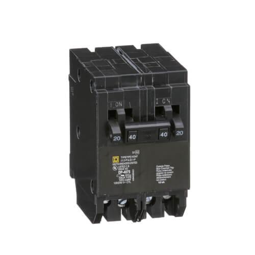 Homeline Single/2 Pole Miniature Tandem Circuit Breaker (120/240V, 20/40A) Product Image